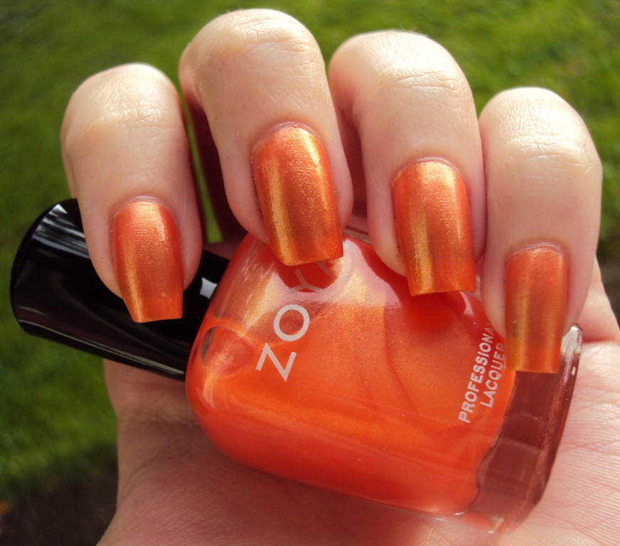 dark orange nails